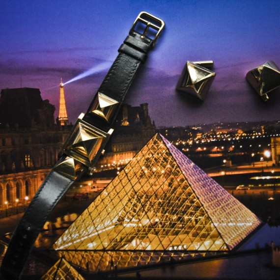 Gold Pyramid in Paris.